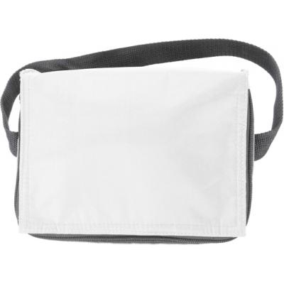 Image of Six can polyester cooler bag.