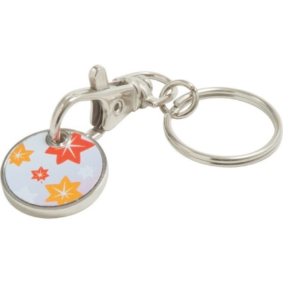 Image of Trolley Coin Keyring (Full Colour Print)