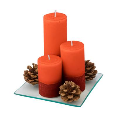 Image of Set of three pillar candles in different sizes