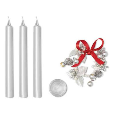 Image of 3 taper candles set