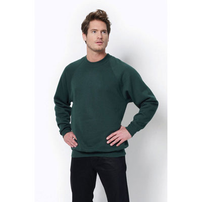 Image of SG Men's Raglan Sleeve Crew Neck Sweatshirt