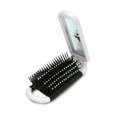 Image of MakeUp Mirror With Hairbrush
