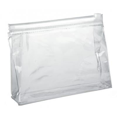 Image of Clear PVC Slide Zippered Toiletry Bag